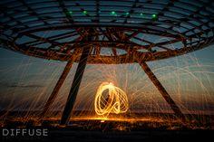 Wool Burning at the Haslingden Halo in Lancashire #longexposure