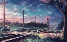 Giclee Canvas Prints Stretched Framed Fine Art Artwork For Wall Decor Anime Fantasy Landscape, Landscape Art, Landscape Paintings, Scenery Wallpaper, Wallpaper Backgrounds, Wallpaper Desktop, Fantasy Paintings, Fantasy Art, Landscape Illustration