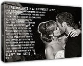 Wedding Song Canvas... love this!