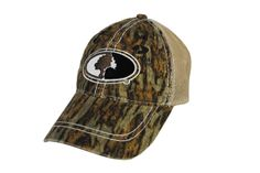 d50580a6fc434 Mossy Oak Exclusive Contrast Stitch Mesh Back Cap. Also available in the  new camouflage pattern Shadow Grass Blades.