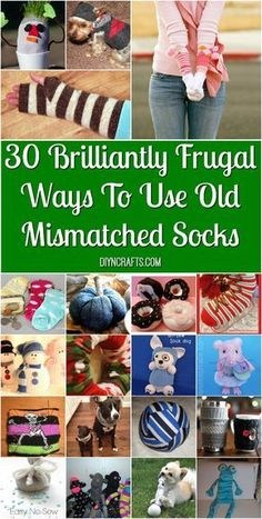 30 Brilliantly Frugal Ways To Use Old Mismatched Socks! These are great ways you can repurpose your old mismatched socks into cute craft projects! You can make toys, home decor, mittens, and more! Check out these upcycling ideas for your mismatched socks! Upcycled Crafts, Diy And Crafts Sewing, Crafts To Sell, Diy Crafts, Creative Crafts, Sharpie Crafts, Repurposed Items, Sewing Ideas, Kids Videos