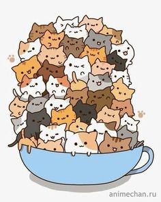 Count how many times to do it by how many cats there are in the cup! )A cup of strong catachino.) And some kawaii neko atsume kitties! Chat Kawaii, Kawaii Cat, Kawaii Shop, Neko Cat, Kawaii Stuff, Gato Pusheen, Neko Atsume, Cat Stickers, Kawaii Drawings