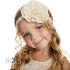 Lace Headband Headband flower headband baby by ThinkPinkBows