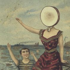 A great poster of art from the album cover of the classic LP by Jeff Mangum and Neutral Milk Hotel - In the Aeroplane Over the Sea! Need Poster Mounts. Neutral Milk Hotel, Cd Cover, Cover Art, Album Covers, Music Covers, Vinyl Cover, Book Covers, Baby One More Time, Time 100
