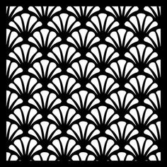 "Scallop Background Durable 190Mm Mylar 6"", 8"", 12"" Stencil"