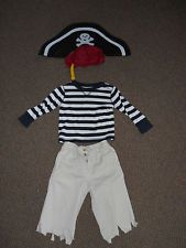 Infant Toddler SZ 18-24M Homemade PIRATE COSTUME Halloween Play Dress-up