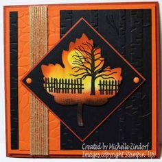 Leaf Scene – Stampin' Up! Card  