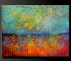 Oxidized Metal - 40 x 30 - Acrylic Abstract Painting - HUGE - Highly Textured. $325.00, via Etsy.
