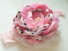 Oh la la polka dots ( choice of headband or hair clip)  by Austenland on Etsy