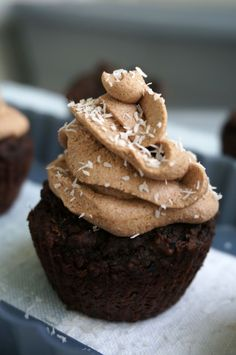 AIP Chocolate Cupcakes - just 2 tablespoons of grain-free flour and it is fruit sweetened!