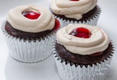 Cherry Cordial Cupcakes | Cooking With Caitlin