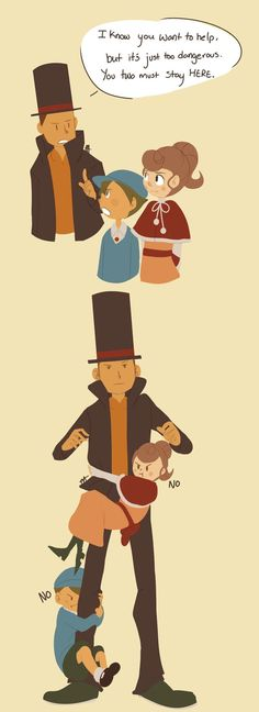 Professor Layton in a nutshell. Truth has been spoken.