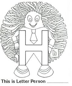 H is for Hair- This teacher has all the Letter People print outs, as well as great activities to go with them! H is for Horrible Hair [With Printable] Preschool Literacy, Preschool Letters, Learning Letters, Preschool Activities, Kindergarten, Preschool Projects, Preschool Education, Preschool Printables, Preschool Lessons