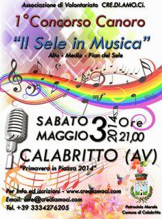 """AccadeinCampania: 1° Concorso Canoro """"Il Sele in Musica"""" a Calabritto 2014"""