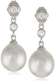 14k White Gold, South Sea Cultured Pearl (9-9.5 mm), and Diamond Drop Earrings (0.2 Cttw, G-H Color, I1-I2 Clarity) Amazon Curated Collection,http://www.amazon.com/dp/B00B1MKY20/ref=cm_sw_r_pi_dp_9GGntb18M6M31NZF