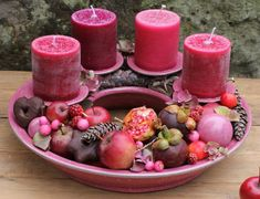 Adventsringe   Töpferei Tecklenburg Christmas Snacks, Christmas Time, Christmas Crafts, Christmas Decorations, Advent Wreath, Crafts With Pictures, Xmas Stockings, Xmas Gifts, Pillar Candles