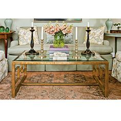 Find Your Coffee Table Style | Brass & Glass | SouthernLiving.com
