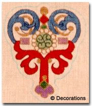 """DC-64  Imperial Ornament #18 Mesh, 5"""" x 4"""" Adapted from antique Russian jewelry design."""