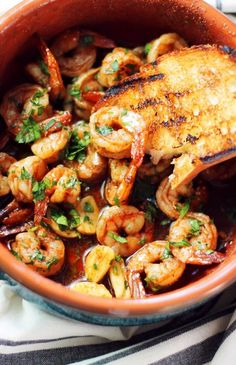 This recipe is my take on a classic Spanish Tapas dish called Gambas al Ajillo, which basically translates to garlic shrimp.