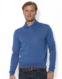 Men's | Men's Holiday Style Guide | Merino Wool Shawl-Collar Pullover | Lord and Taylor