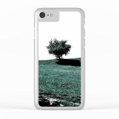 Tree On Hill Clear iPhone Case by ARTbyJWP from Society6 #iphonecase #phonecase #clearcases #tree #minimal --   Shop clear iPhone cases featuring brilliant patterns and designs on frosted, transparent shells - created by the world's best independent artists.