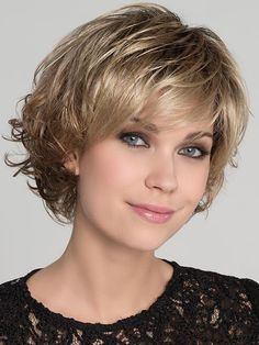 Ellen Wille Wigs – Flair Mono Wig Features: Monofilament Top, Extended Lace Front, Open Wefted Sides/Back Flair Mono is a very feminine look. Beautiful flattering layers and harmonious harmonious waves describe this dream. Short Hairstyles For Thick Hair, Short Hair With Layers, Short Curly Hair, Diy Hairstyles, Curly Hair Styles, Soft Layers, Short Haircuts, Hairstyle Ideas, Hairstyles For Over 60