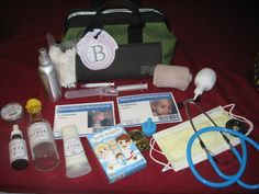 DIY Handmade Doctor Play Kit (tutorial). GREAT kids gift! Link to all printables for labels, badges, xray's and eye chart!