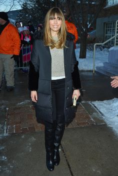 Jessica Biel walked the streets of Park City, UT, during the Sundance Film Festival in January Jessica Biel, Meeting Outfit, Girl Celebrities, Celebs, Sundance Film Festival, Celebrity Outfits, Festival Fashion, Star Fashion, Autumn Winter Fashion