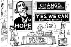 Zapiro: US elections. Vote Obama! The other guy is worse. Sounds a bit like Cosatu's choice for President of the ANC.