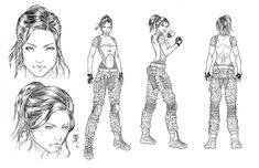 Four Five Two Model Sheet by jhansard   Cool,asskicking, sexy, military, badass and strong female.