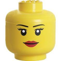 Lego Aufbewahrungskopf - Mädchen