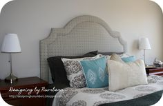 DIY Headboard- love the shape