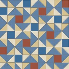 Blue Skies triangle tile pattern by Winckelmans