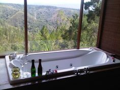 Forest Valley Cottages - Honeymoon, casual luxury, romantic hideaways available for you to consider. Built at treetop height, all have awesome amphitheater views of the deep indigenous forest, valleys and mountains surrounding . Forest View, Knysna, Weekend Getaways, Bathtub, Cottages, Luxury, Building, Bathrooms, Romantic