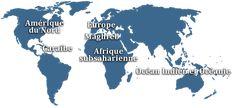 Base de données lexicographiques panfrancophone France, Base, Poster, Worldmap, Language, Africa, Billboard, French