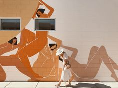 here are 10 things to do in Palm Springs that will make great Insta stories, in case you're planning on visiting California's mid-century paradise. Inspiration Art, Art Inspo, Art Mural, Wall Art, Murals, Image Deco, Illustrations, Illustration Art, Palm Springs Style