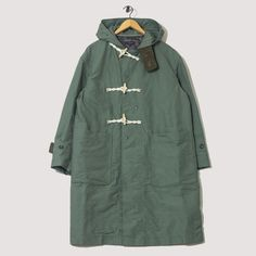 Duffel Coat - Olive Cotton Double Cloth | Engineered Garments | Peggs & son.