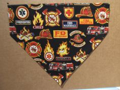 Firefighter2 Bandana by SCCDogApparel on Etsy, $10.00