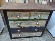 cajonera cajon rustica madera tablones reciclar reciclado