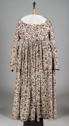 Dress, 1795-1800, cotton, American. Met