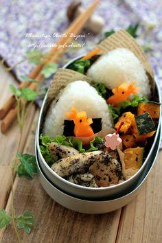抜き型でウサギちゃんのお弁当~簡単デコ弁~ 毎日がお弁当日和♪