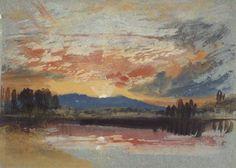 Joseph Mallord William Turner - Sunset over Petworth Park, Sussex (circa 1828)