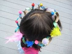 Recycled Glitter Birthday Crowns