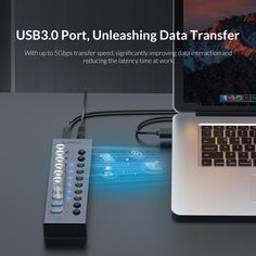 Aluminum USB 3.0 HUB Multi High Speed 7 10 13 16 Port USB Splitter With 12V Power Adapter Switch for Industrial Computer Usb Hub, High Speed, Cable, Industrial, Type, Cabo, Industrial Music, Electrical Cable