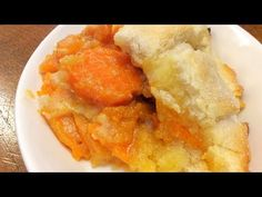 """Sweet Potato Cobbler Recipe is """"A Cobbler Favorite""""! This is an Old-Fashioned Sweet Potato Cobbler recipe that my family had often! Sweet Potato Cobbler, Sweet Potato Recipes, Potato Pie, Granny's Recipe, Cobbler Recipe, Homemade Chicken Pot Pie, Cooking Sweet Potatoes, Glass Baking Dish, How Sweet Eats"""