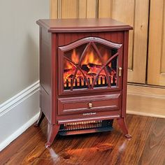 The Comfort Smart 600 Sq Ft Cranberry Infrared Fireplace - is ideal for apartments or condos. Electric Stove Fireplace, Electric Fireplaces, Infrared Fireplace, Stove Heater, Life Is Beautiful, Family Room, Home Appliances, Indoor, Wood
