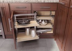 43 Astonishing Corner Cabinet Storage Ideas For Your Kitchen - It's no secret that when it comes to clutter in the home, the kitchen can often be the worst offender. From unkempt spice racks to disorganized cabine. Blind Corner Cabinet, Corner Drawers, Corner Storage, Corner Shelf, Modern Kitchen Interiors, Modern Kitchen Cabinets, Kitchen Corner, New Kitchen, Kitchen Ideas