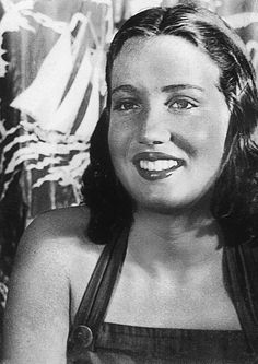 """Little Edie Beale of Grey Gardens : Beautiful Deb Writes Poetry. Edith Beale, the daughter of Mr. and Mrs. Phelan Beale , of 40 E. 62nd St., is one of the few authors in the debutante ranks this season. At the tender age of 9, a poem of hers was published in a Park Ave. magazine...  She's a tall, slim girl, with blond hair, blue eyes, and the longest black eyelashes... Her beauty... has won her the sobriquet of """"The Body Beautiful"""" among her cohorts at East Hampton..."""
