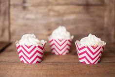 Hot Pink Chevron Cupcake Wrappers
