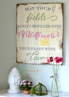 """Wildflowers"" Wood Sign {customizable} - Aimee Weaver Designs"
